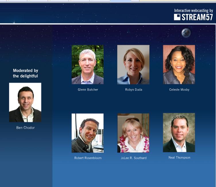 Stream54 Live Webcast Panelists
