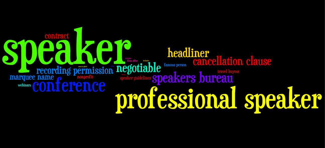 Part 2 Hiring Professional Speakers Jargon Buster Words N Z