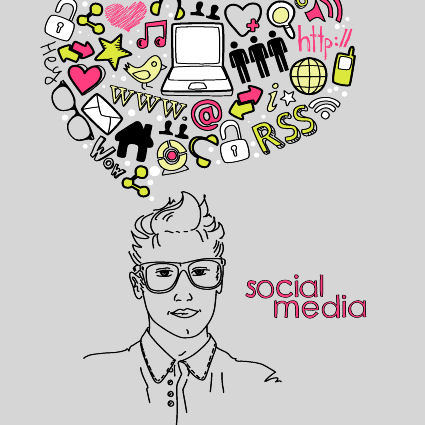 Social Media Head Bubble
